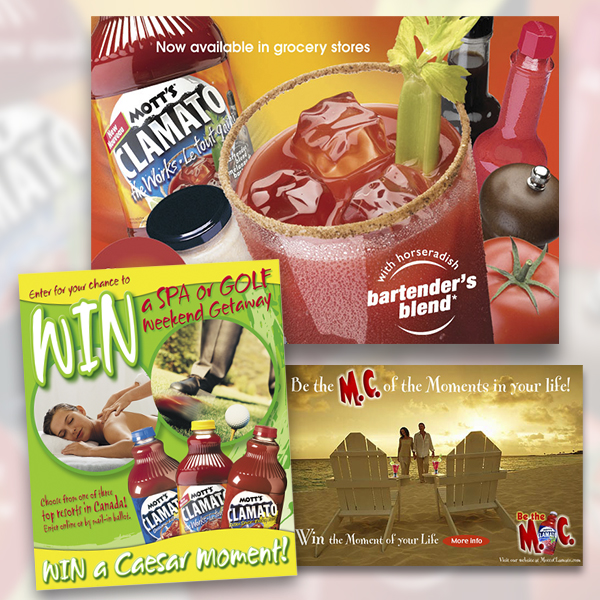 Promo material: Mott's Clamato on-line & print