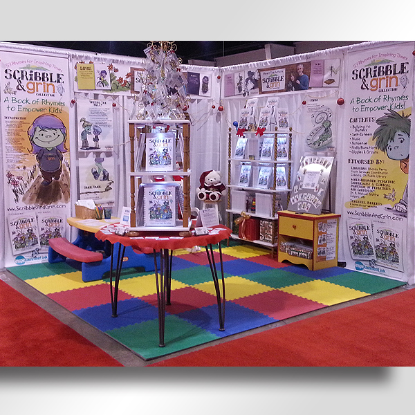 Other designs: Trade show booth, Scribble & Grin