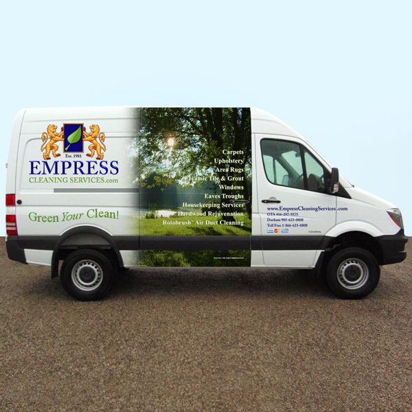 Other designs: Vehicle wrap - Empress side