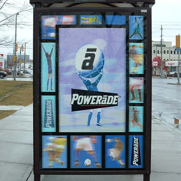 Other designs: Outdoor transit - Powerade