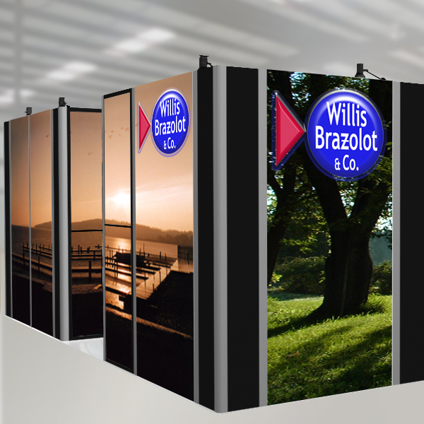 Other designs: Trade show booth, Willis Brazolot