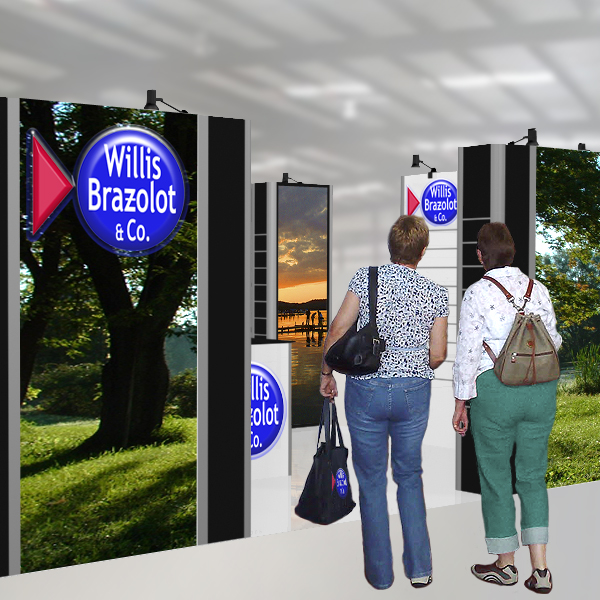 Other designs: trade show booth - Willis Brazolot