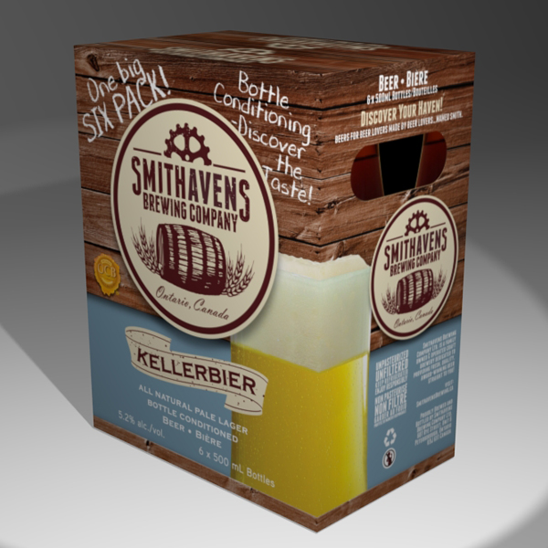 Package design: Smithavens Brewing company