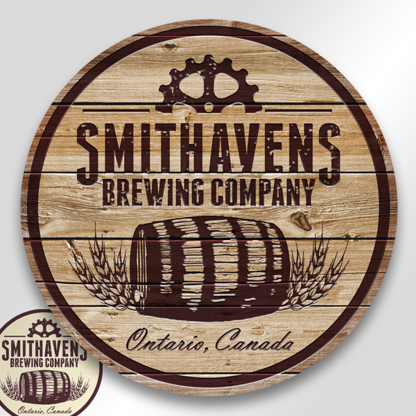 Name generation & logo design: Smithavens Brewing Company